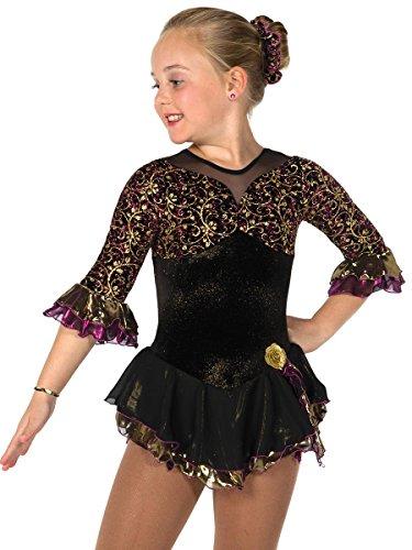 Jerry's Figure Skating Dress 59 (6-8, Black)