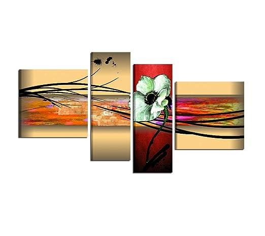 Quadri Moderni Per Soggiorno.I Colori Del Caribe Quadri Moderni Con Fiori Per Salone Salotto Soggiorno Olio Su Tela Dipinti A Mano Roslyn
