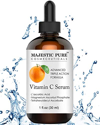 Vitamin C Serum for Face with L-ascorbic Acid - Age Defying Skin Brightening Facial Serum for Face Under Eye and Neck Areas - 1 fl. oz.