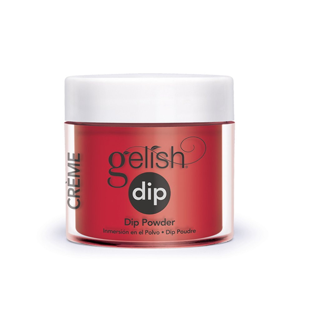 Harmony Gelish - Acrylic Dip Powder - Hot Rod Red - 23g/0.8oz Cover Pink