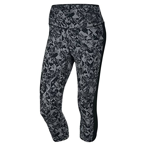 Nike Women's Legendary Jewels Tight Training Capris, Black/Anthracite (XL)