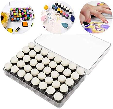 Zyyini Juego de 40 Piezas de esponjas de Dedo, esponjas de Pintura Incluidas, con Estuche de Almacenamiento para Manualidades, Tarjeta de Tiza de Tinta de Dibujo: Amazon.es: Hogar