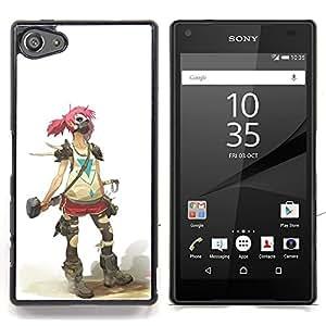 - Goth Girl Soldier - - Cubierta del caso de impacto con el patr??n Art Designs FOR Sony Xperia Z5 compact / mini Queen Pattern