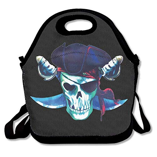Cool Pirate Skull Lunch Bags Lunch Tote Lunch Box Handbag For Kids And Adults -