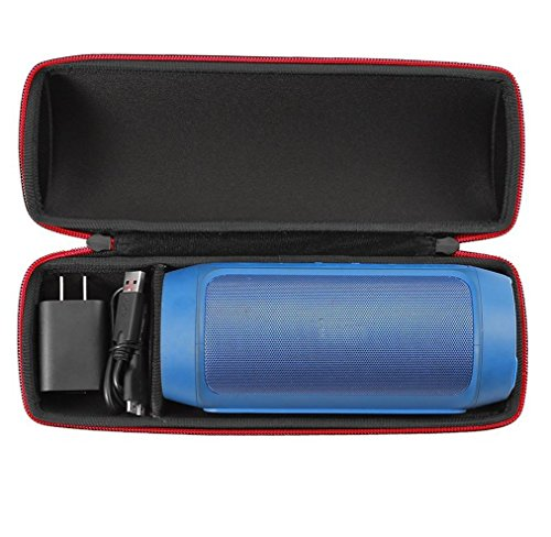 Poschell EVA Hard Case for JBL Charge 2 and JBL Charge 2 Plus Portable Bluetooth Speaker Travel Carrying Bag Shell Fits USB Cable and Wall Charger
