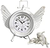Design Toscano Heavens Halo Metal Angel Wings Clock, Antique White