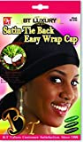 Product review for Beauty Town Satin Tie Back Easy Wrap Cap - Coconut Oil Treated - Black