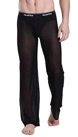07ddf8bf837 Mendove Mens Mesh See Through Home Lounge Pants Nightwear