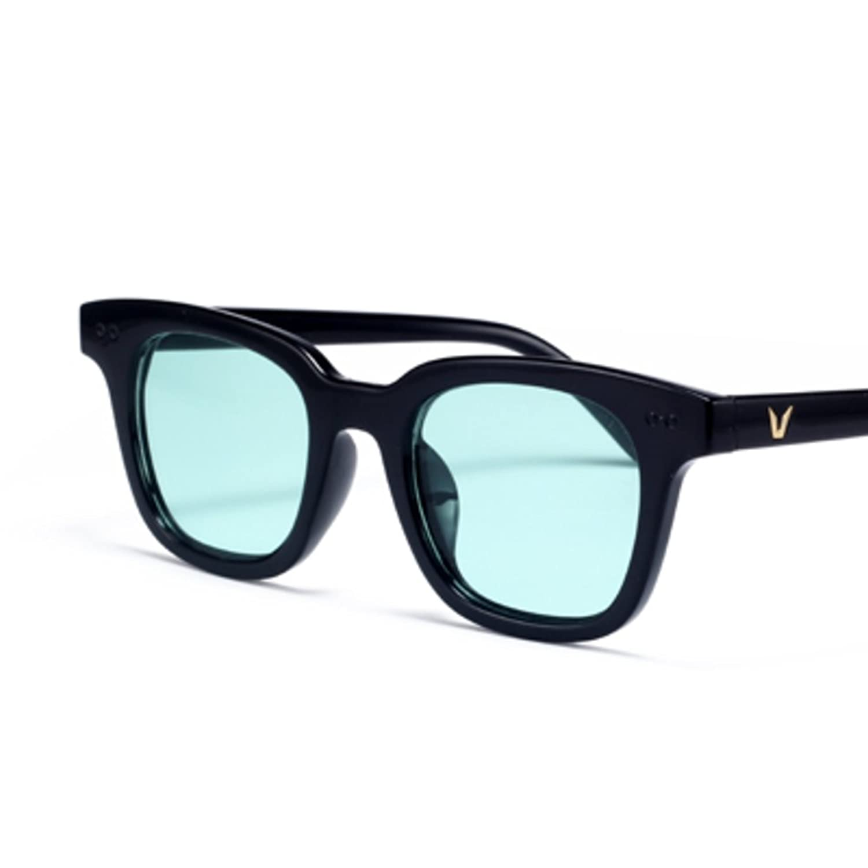 Korean version of the transparent colour glasses/Small square box face sunglasses/Jelly color sunglasses