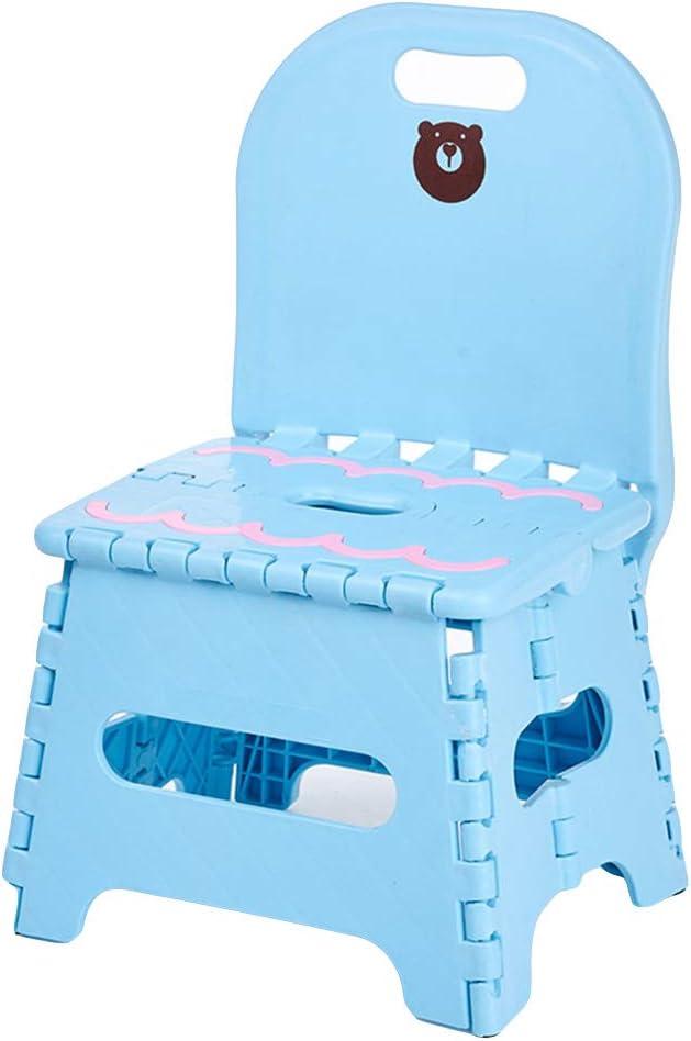 22 * 17 * 18cm plastica Outtybrave plastica Multiuso Pieghevole Sgabello Sgabello Pieghevole per Esterni Domestici Portatile plastica Spessa Bench Chair Blue