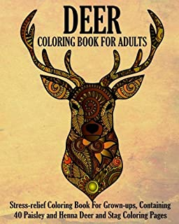 Deer Coloring Book For Adults Stress Relief Grown Ups