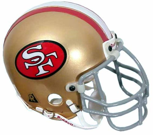 San Francisco 49ers Authentic Throwback Mini Helmet by Riddell ()