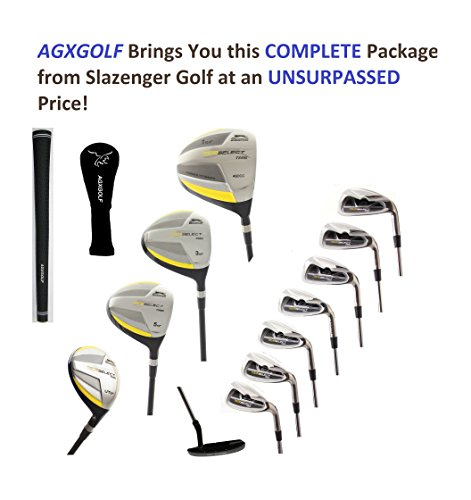 - AGXGOLF Slazenger Men's Pro Select Edition Golf Club Set; wTitanium Driver+3 & 5 Woods+ Hybrid Iron+5-9 Irons +PW+SW+Putter Right Hand: Built in USA! Cadet, Regular or Tall Length; Fast Shipping!