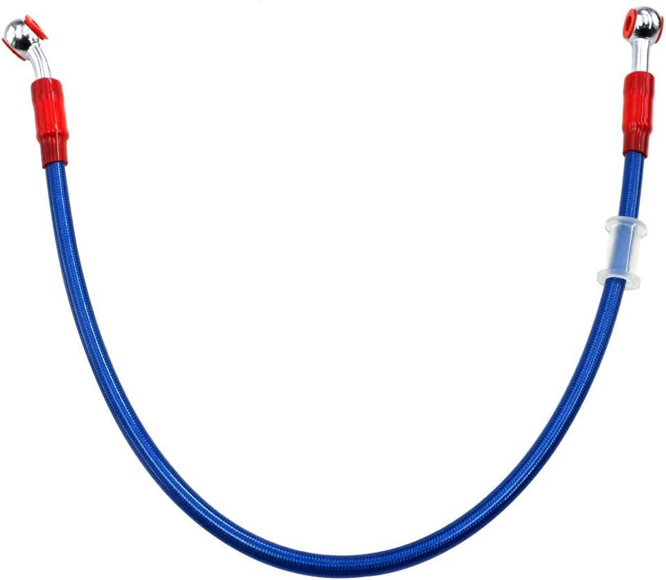 65cm Motorrad Blau Kupplung Bremse Schl/äuche Bremsleitung /Ölschlauch Bremsschlauch mit Geflochtenem Edelstahl und Aluminiumlegierung Verbinder AHL L/änge