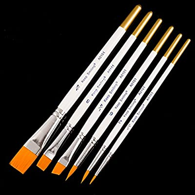 artist brushes Painting Brushes for Fine Detailing Art Painting - Acrylic Watercolor Oil Perfect for Miniatures Models Airplane Kits Nail