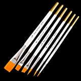 #4: artist brushes Painting Brushes for Fine Detailing Art Painting - Acrylic Watercolor Oil Perfect for Miniatures Models Airplane Kits Nail