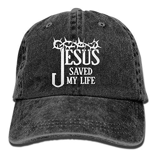 Jesus Saved My Life Unisex Adult Adjustable Denim Dad Hat