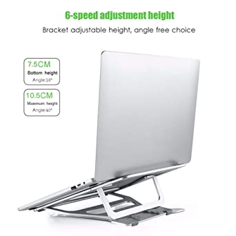 OUYAWEI Great for Laptop Stand Aluminium Alloy Laptop Bracket Storage Bracket Adjustable Computer Stand Laptop Holder