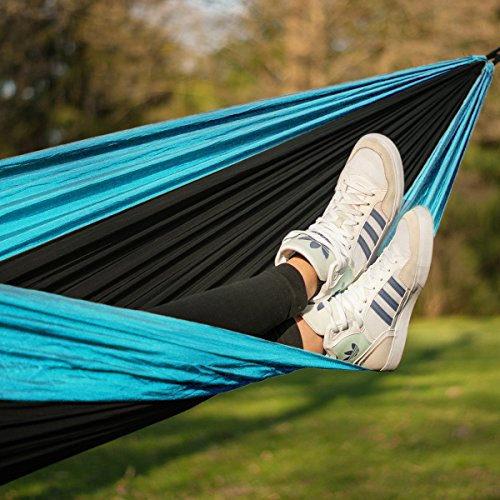 Camping Hammock With Nylon Straps And Carabiners By Silverton | Highest Quality Portable & Durable 210T Nylon Rated For 450 lbs. & Can Be Used To Doublenest – Great for Backpacking The Great Outdoors