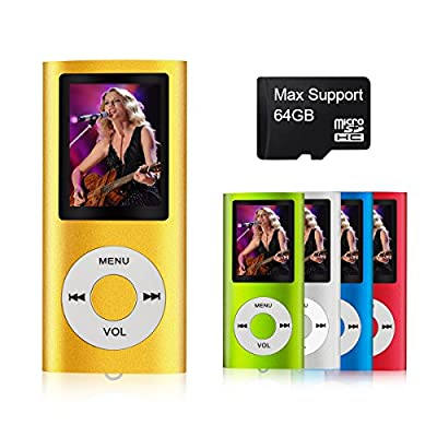 MYMAHDI - Digital, Compact and Portable MP3 / MP4 Player ( Max support 64 GB Micro SD Card ) with Photo Viewer, E-Book Reader and Voice Recorder and FM Radio Video Movie in Gold by Weisa Technology Co., Ltd