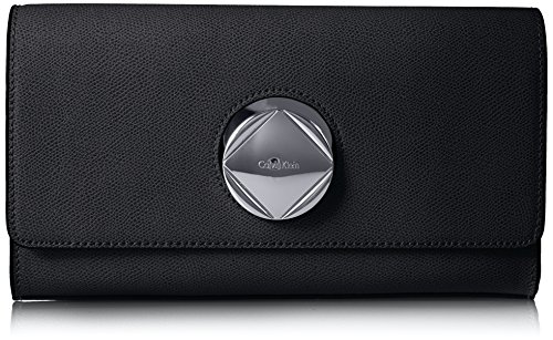 Calvin Klein Reese Mercury Structured Flap Clutch by Calvin Klein