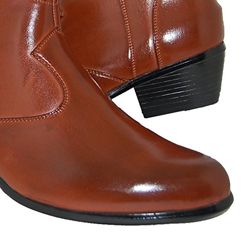 FACTORY Inch SHOE Shoes Leather Heel A Cuban Men High Lined 2 PZwSqt