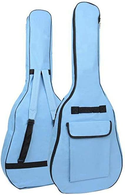 BHCW 40/41 Pulgadas Oxford Tela Guitarra Acústica Bolsa De Concierto Estuche Blando Correas De Hombro Guitarra Acolchada Mochila Impermeable Azul: Amazon.es: Instrumentos musicales