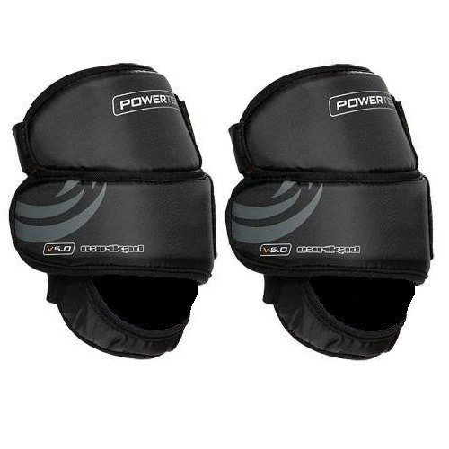 PowerTek V5.0 Barikad Flex Plus Ice Hockey Goal Keeper Goalie Knee Pads - Youth Size (Goalie Knee Protector)