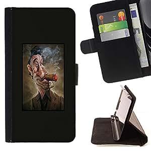 Momo Phone Case / Flip Funda de Cuero Case Cover - Smoking Man Affiche Hollywood - Samsung Galaxy E5 E500