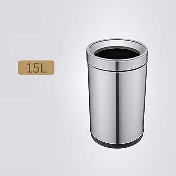 Amazon.com: WEWE - Cubo de basura de gran capacidad, sin ...