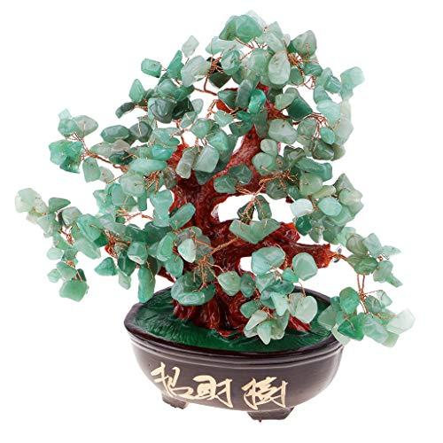 D DOLITY 9'' Crystal Money Tree Feng Shui Natural Quartz Gemstone Fortune Decoration -