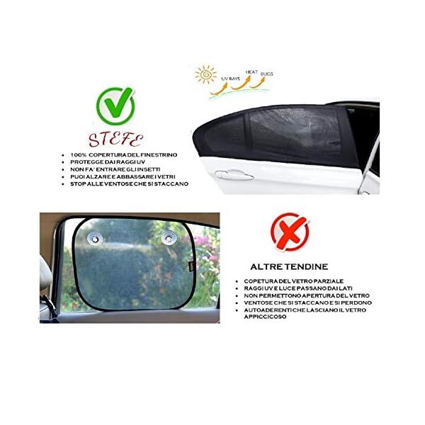 Tendine Parasole Auto Bambini Stefe Parasole Auto Bambini, Anti-zanzara e Blocca Raggi UV, Oscura Vetri, Protegge i tuoi… 6 spesavip