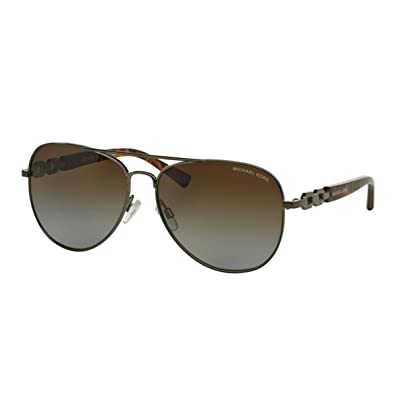 0b91e31d92653 Image Unavailable. Image not available for. Color  Michael Kors Fiji  Sunglasses MK1003 1002T5 Gunmetal Brown Gradient Polarized 58 14 135