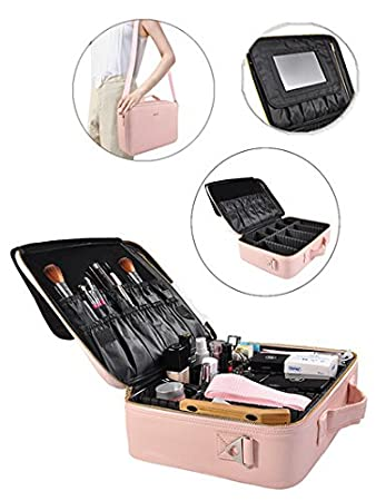 Amazon.com: Neceser portátil para maquillaje profesional ...