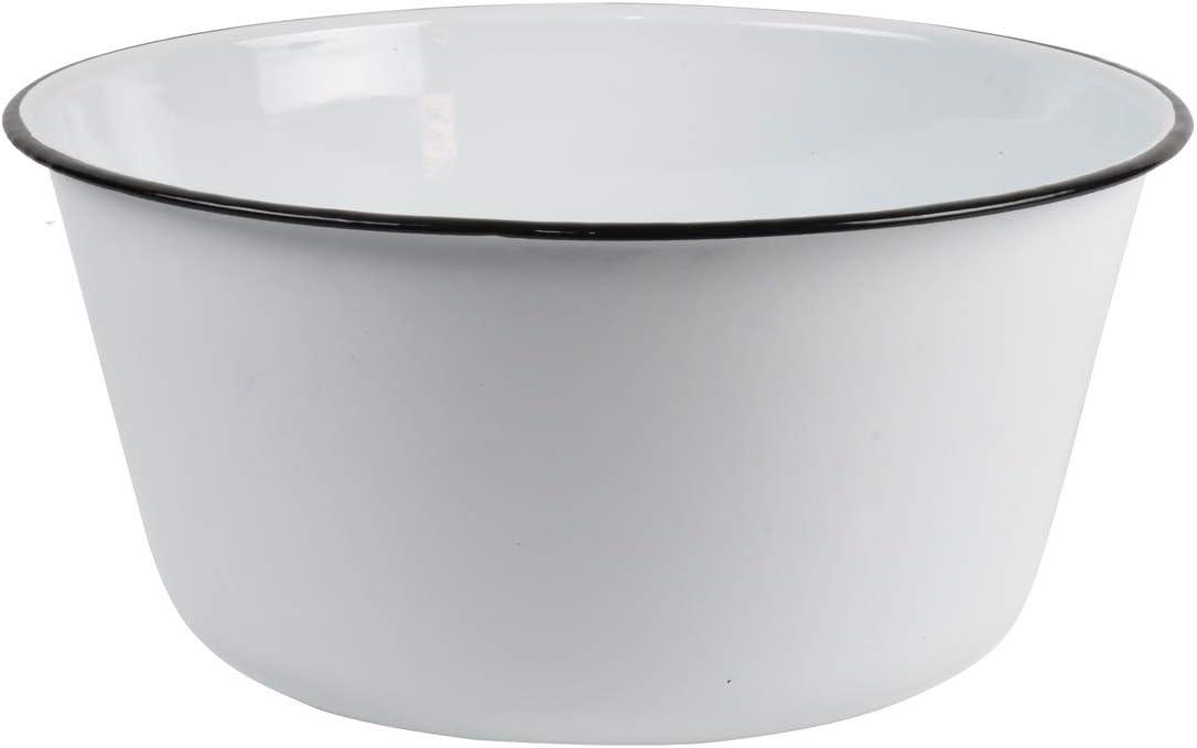 Treasure Gurus Vintage Style White Enamel Kitchen Mixing Bowl Bath Wash Basin Rustic Home Decor