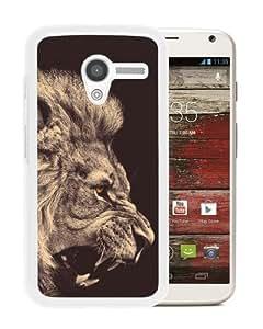 Individual Design Phone Case lion White Popular Sale Motorola Moto X Phone Case