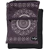 Sprigs Banjees 2 Pocket Wrist Wallet (Batik Slate Gray, One Size Fits Most)