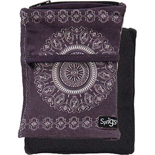 Sprigs Banjees 2 Pocket Wrist Wallet (Batik Slate Gray, One Size Fits Most) by Sprigs