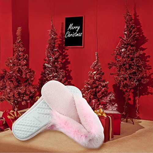 Pantofole Da Donna Forfoot Comfort Fodera In Peluche Spa Infradito Infradito Casa Pantofole Interne Rosa