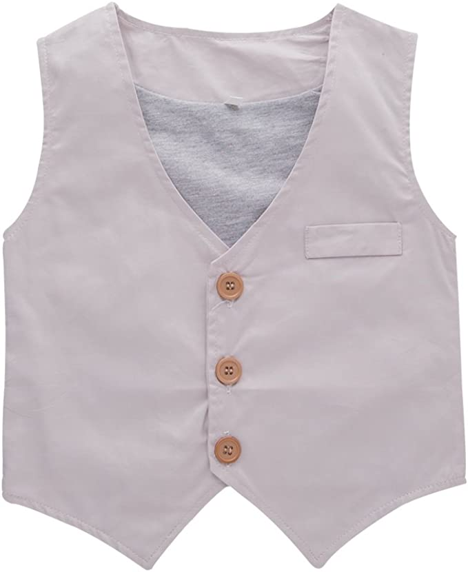 Bilo Infant Baby Kid Boy 3-Pieces Formal Wear Shirt Vest and Pants