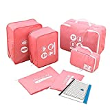 P,travel Travel Packing Organizers Cubes Laundry Bag 7pc Set