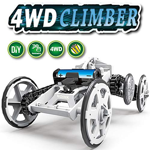 NOIHK STEM Toy 4WD Car Assembly Kit,Four-Wheel Drive DIY Climbing Vehicle, Circuit Building Projects for Kids and Teens | DIY Science Experiments & Circuit Building Projects Using Real -