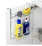 Tür Hängeregal Regal Einhängeregal Spülschrank Küche Bad mit 2 Körben Metall