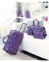 3 Piece Luggage Set - Polka Dot Moons (Rolling Bag, Duffle Bag & Carry On)