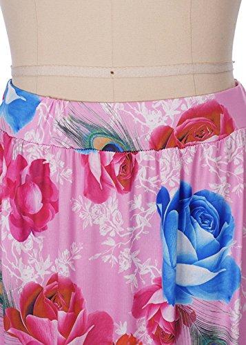 Vestido largo de la falda del Hippie de la falda alta de Bohemian de las mujeres de largo de la playa C0070