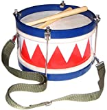 Reditmo R-001 Wooden Tom Tom Marching Drum with Sticks, Neck Strap and Tuning Wrench