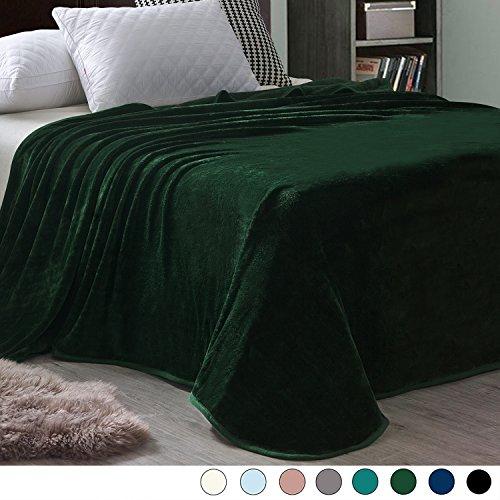 Exclusivo Mezcla Luxury Queen Size Flannel Velvet Plush Solid Bed Blanket (90