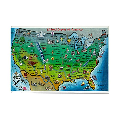 CafePress - USA Map 11x17 Magnets - Rectangle Magnet, 2