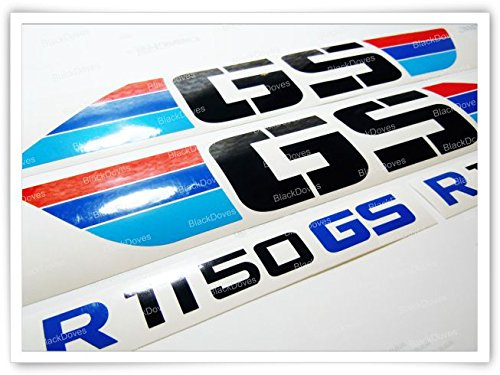 Kit for R1150 GS ADVENTURE 4pcs Motorcycle ADESIVI Kit BMW Motorrad R 1150 ADESIVI PEGATINA STICKERS DECALS VINIL R1150GS Custom Colors Moto Black Doves Graphics