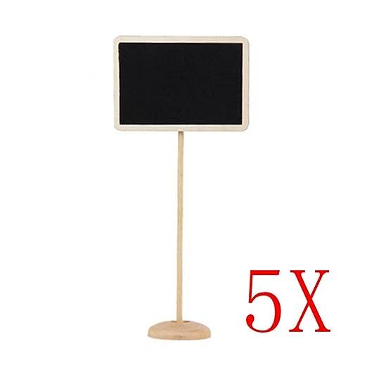 zreal 5pcs Mini asientos cuadro cuadro de número de mesa cuadro ...